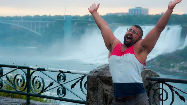 Niagara Falls celebrating