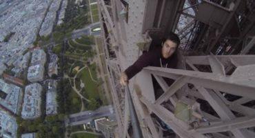 Adrenaline junkie climbs Eiffel Tower