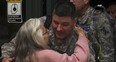 The 'hug lady' has been greeting soldiers for over 10 years