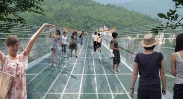 Don't look down – first look at world's highest, longest glass-bottom bridge