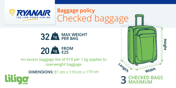 Checked baggage Ryanair