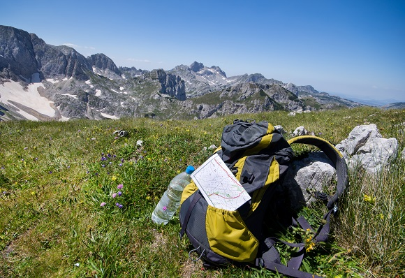 Rucksack in the mountains