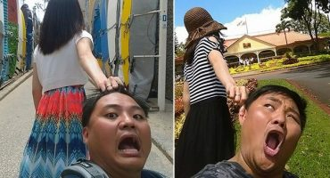 "Funny couple parodies popular ""Follow Me To"" travel pics"