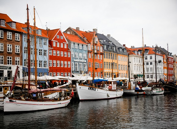 Colorful buildings in Copenhagen, Denmark