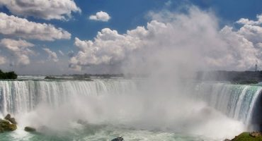 This zipline will take you on a ride across Niagara Falls!