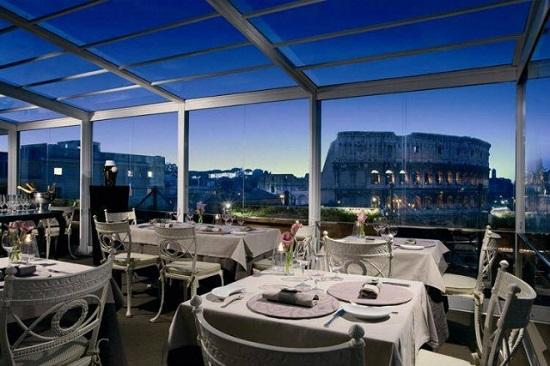 Ristorante Aroma rooftop bar in Rome