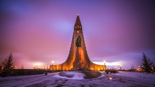 The Church of Hallgrímur, Iceland