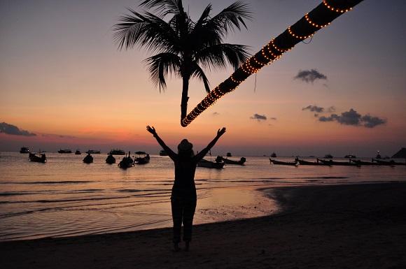 Girl on Koh Tao island