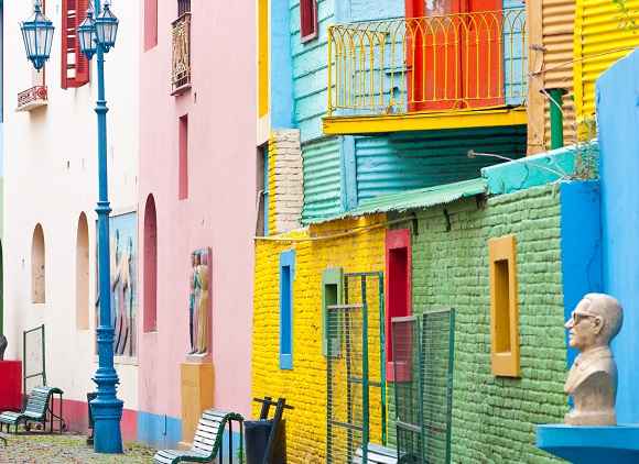 Colorful buildings in Buenos Aires