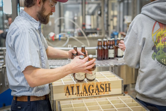 Craft beer at Allagash in Portland