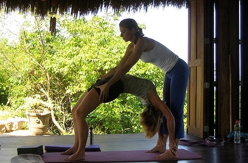 Practising Yoga in Sayulita, Mexico