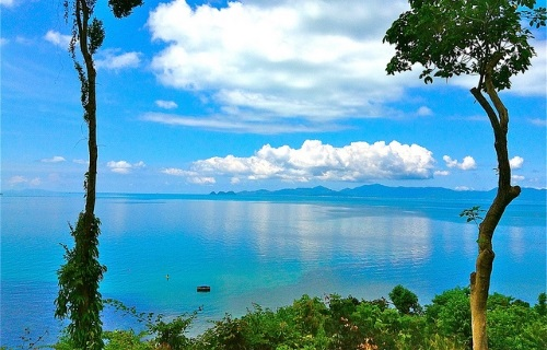 View of the sea on Koh Samui, Thailand