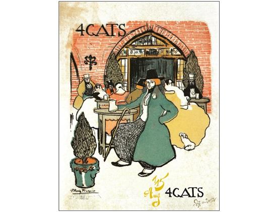Els Quatre Gats cafe in Barcelona