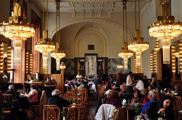 Municipal House cafe in Prague