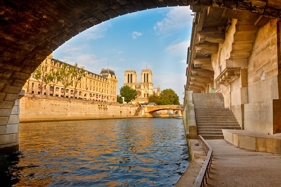 Notre Dame from the Seine in Paris