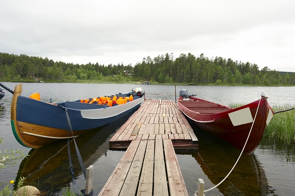 Boats on lake Finland