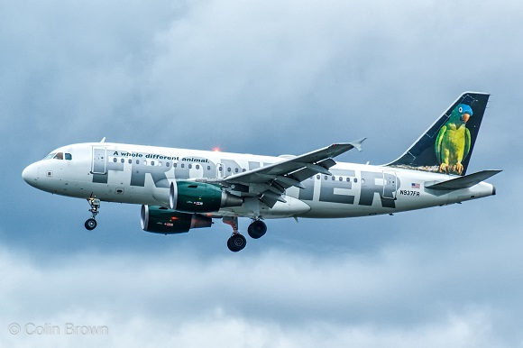 Frontier airlines plane
