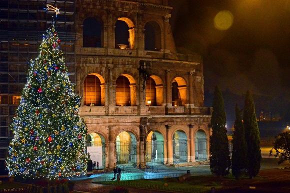 Rome Colosseum Christmas Italy