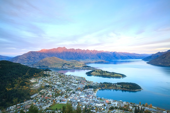 Lake New Zealand aerial view