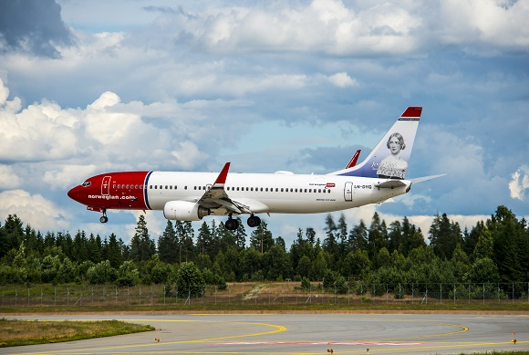 Norwegian airlines airplane