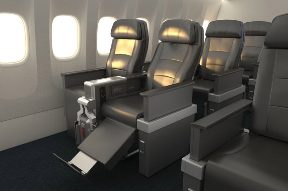 American Airlines premium economy flight