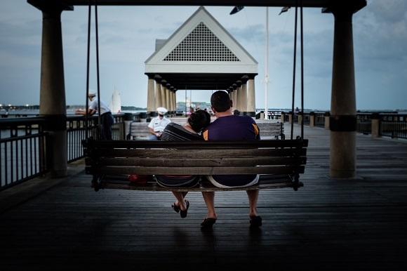 South Carolina pier relaxed