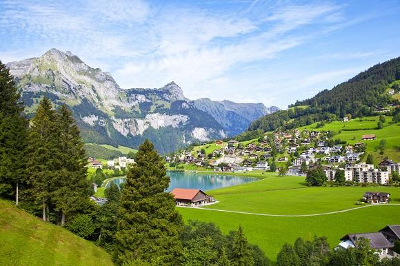 Chalet village in Swizterland