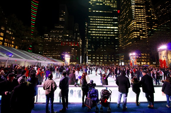 Bryant Park Winter Village ice skating New York