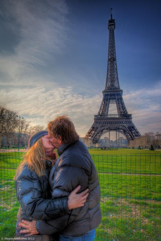 Paris romantic Eiffel Tower