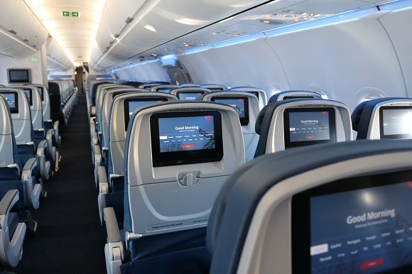Delta Airlines interior cabin