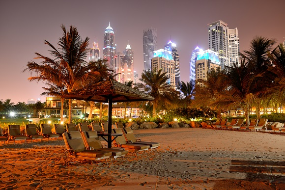 Dubai city beach