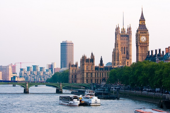 London Houses of Parliament River Thames
