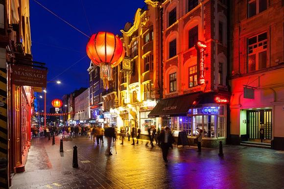 Soho London at Night