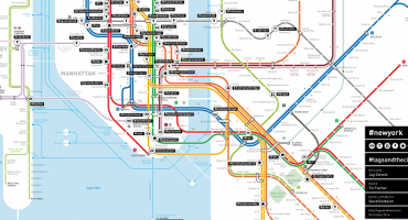 These Subway Maps Name Stations By Popular Hashtags