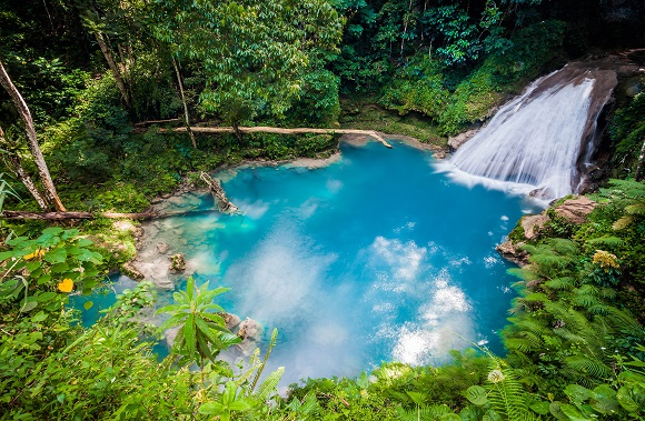 Blue Hole Waterfall in Jamaica