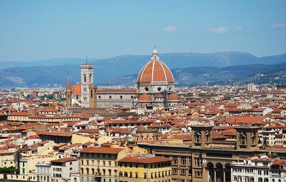 Florence skyline and Duomo