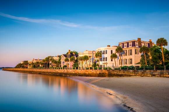 Charleston water front view