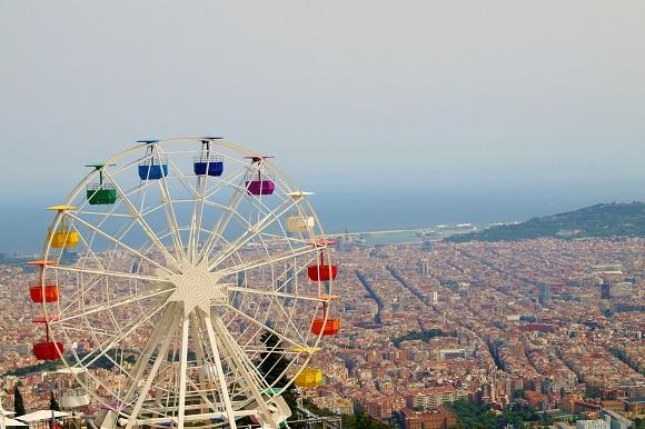 Ferris wheel in Barcelona