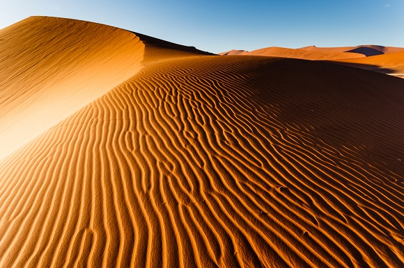 San dunes in the Namib Desert