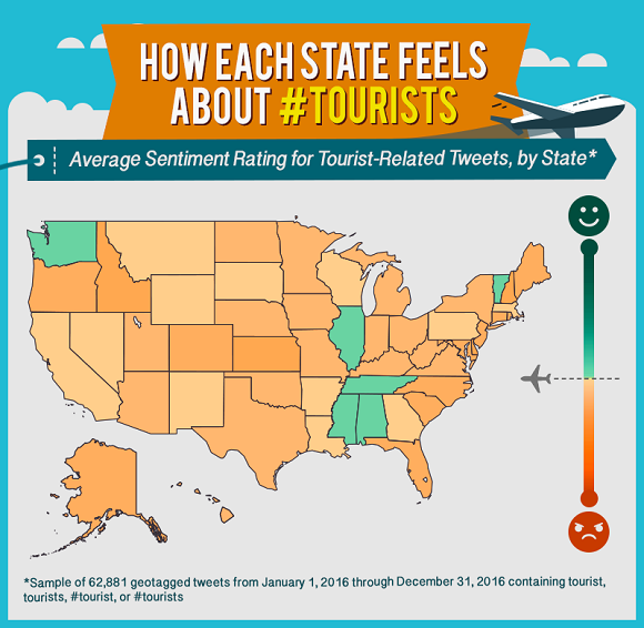 How US states feel about tourists