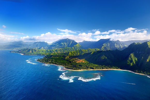 Hawaii aerial view