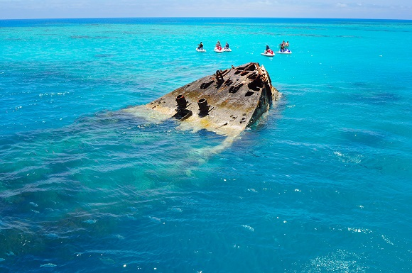HMS Vixen ship wreck in Bermuda