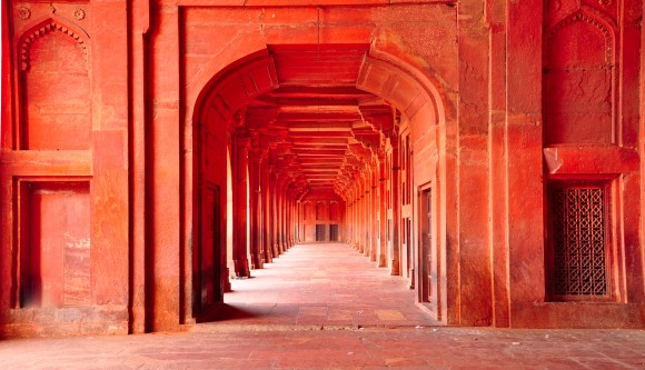 India - red palace
