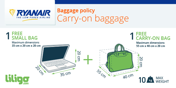 Carry-on baggage Ryanair