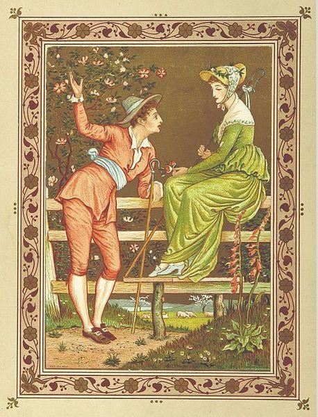 Valentine card 1876
