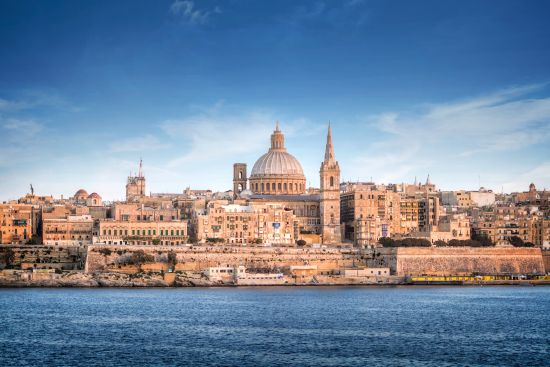 Valletta skyline with St. Paul's Cathedral